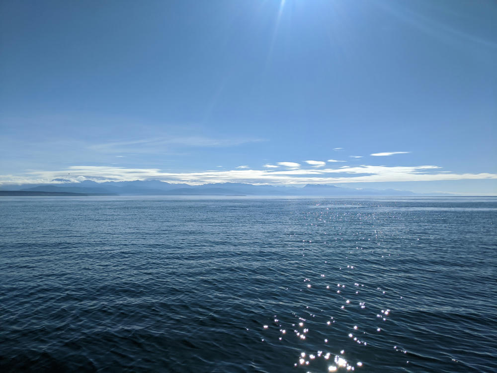Leaving the Strait of Juan de Fuca