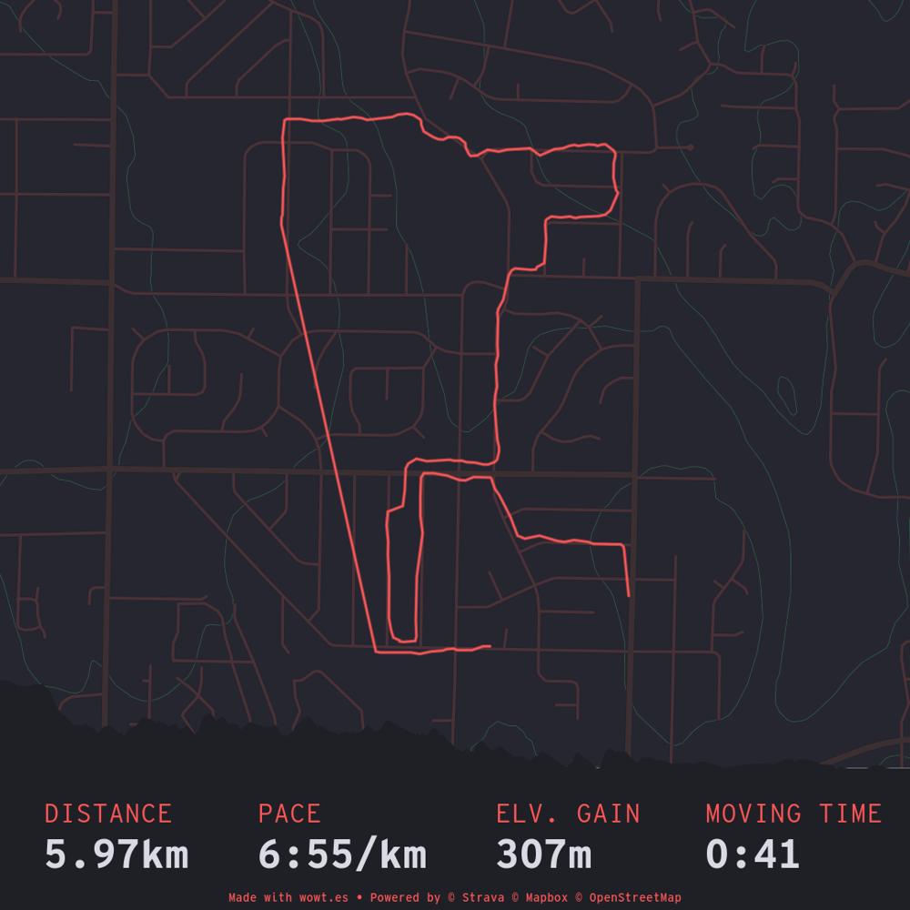 Map of run