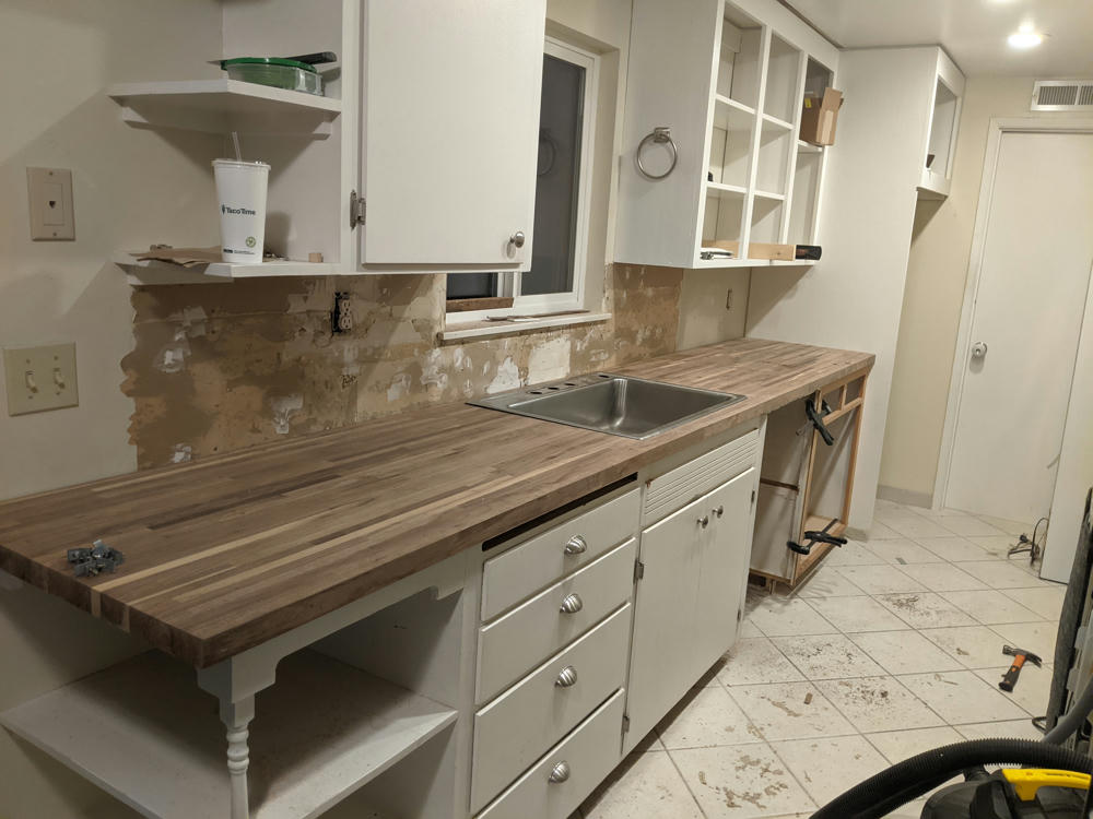 New counter top and cabinet face installed