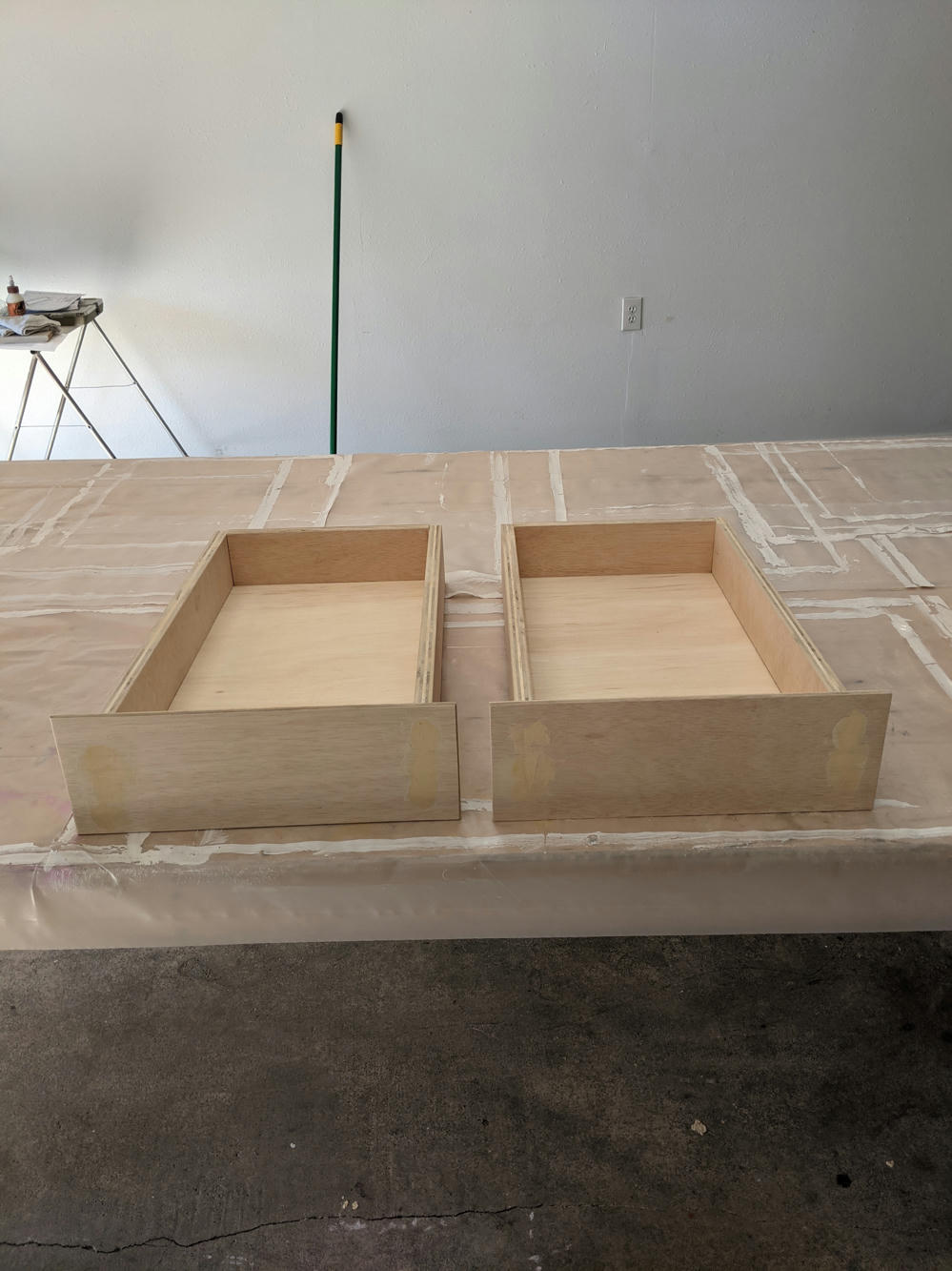 Kitchen drawers (pre-paint)
